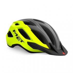 Cyklo prilba MET Crossover šedo-fluorescenčno žltá