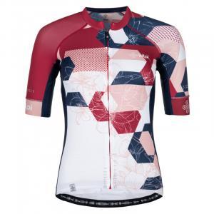 Dámsky dres Kilp Adamello bielo-modro-ružový - krátky rukáv